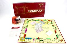 Vintage 1972 Monopoly Deluxe Edition Board Game by Parker Brothers, Complete