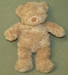 Baby Gund Womb Sounds TEDDY BEAR Heart Bea Water Music Box Tan Plush Stuffed Toy #BabyGund