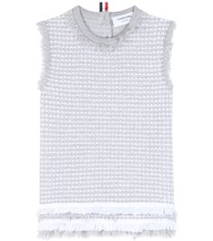 THOM BROWNE Cotton-Blend Top. #thombrowne #cloth #tops