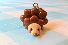 Hedgehog Polymer Clay Charm