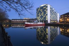 BDP designed the 'Abito Apartments Salford Quays' in Manchester, United Kingdom. http://en.51arch.com/2012/11/a026-abito-apartments-salford-quays/