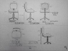 Furniture Drawings : Chair