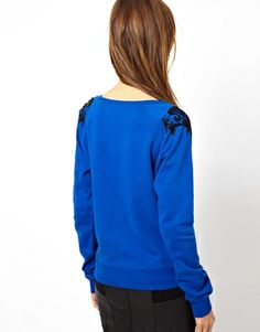 Image 2 of French Connection Antoinette Sweatshirt with Beaded Shoulders