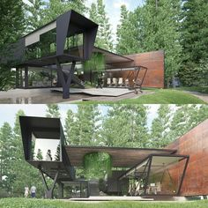 amazing.architectureContainer house - Architecture visualization by Titanviz Studio #France www.facebook.com/amazingarchitecture