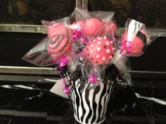 Birthday cake pop bouquet