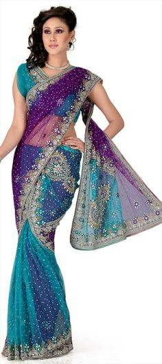 Net sari, nice blend of colours