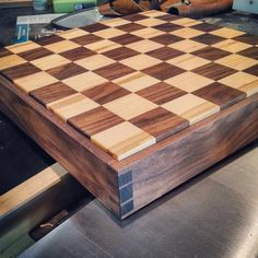 For the chess fanatic... a locally handmade chess board.