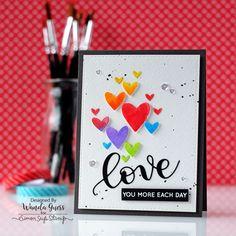 Simon Says Stamps And Dies KRISTINA'S LOVE Set287KW Hey Love zoom image