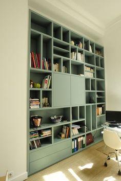26 Trendy Bedroom Desk Built In Interior Design Decor, Home Library, Creative Bookcases, Bookshelf Decor, Shelves, Interior, Bookshelves, Home Decor, Home Deco