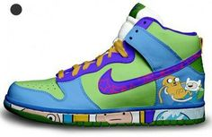 Adventure Time Nike Dunks #Nike#NikeDunks#AdventureTime#Purple