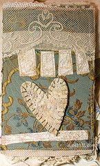 vintage heart covered journal