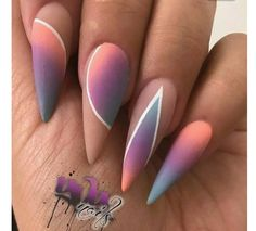Stiletto nails | nail art design ideas