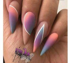 Stiletto nails | nail art design ideas