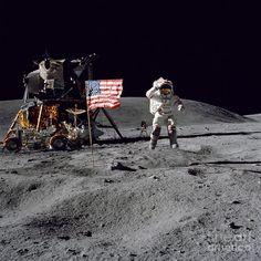 Apollo 16 Astronaut Leaps Fine Art Print