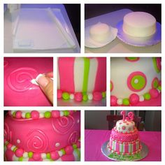 How to make a Fondant Birthday Cake