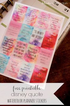 Disney Quote Planner Stickers