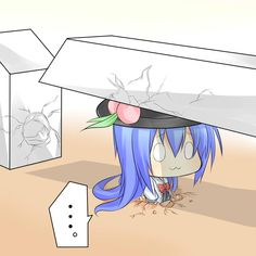 Tenshi getting her just desserts.