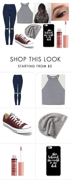 """NoT mY BeSt"" by pawlicki16 on Polyvore featuring Topshop, Converse, Charlotte Russe and Caso"