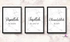 Allah, Bismillah, Inshaal - Haus How to Crafts Alhamdulillah, Islamic Quotes, Islamic Art, Islamic Posters, Allah, Sparkle Quotes, Islamic Wall Decor, Gold Leaf Art, Canvas Designs