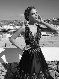 A-line V-neck Floor-length Taffeta Prom Dresses/Evening Dresses #SP922