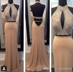 High Neckline Backless Prom Ball Gowns 2015 Amazing Stylish Style Sleeveless Beaded Open Back Mermaid/Trumpet/Fishtail Prom/Pageant Dresses, $115.19 | DHgate.com