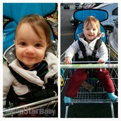 Moonstar baby out and about shopping, how lovely is this photo!?!