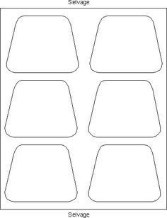 New Wedge Shaped Placemats Pattern