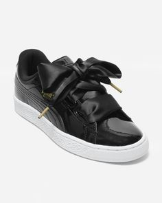 hot sale online 70d34 a7db9 Puma Basket Heart Patent women s sneakers in Black