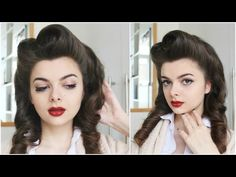 How to make victory rolls on your own hair