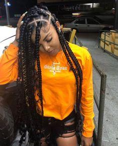 Black Girl Braids, Braids For Black Hair, Girls Braids, Lemonade Braids Hairstyles, African Braids Hairstyles, Easy Black Girl Hairstyles, Long Hair Cut Short, Dreads, Braids With Curls