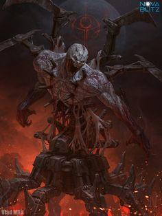 An illustration I did a while back for Nova Blitz. Work by Vlad Marica on Concept Art, Digital Art, Illustration Dark Fantasy Art, Fantasy Artwork, Fantasy Kunst, Demon Artwork, Monster Concept Art, Fantasy Monster, Monster Art, Arte Horror, Horror Art