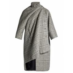 Balenciaga Pulled Opera coat (71.558.545 VND) ❤ liked on Polyvore featuring outerwear, coats and balenciaga