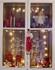 A cabinet full of christmas - love this!