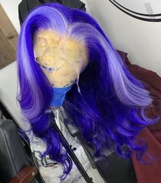 Blue Wigs Lace Hair Lace Frontal Wigs Black Wig Willie Nelson Wig 12 I – eggplantral Purple Wig, Blue Wig, My Hairstyle, Wig Hairstyles, Colored Weave Hairstyles, Casual Hairstyles, Disney Hairstyles, Wedding Hairstyles, Fancy Hairstyles