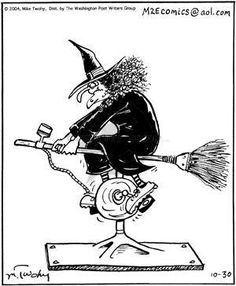 Today on That's Life - Comics by Mike Twohy Halloween Jokes, Halloween Art, Vintage Halloween, Cartoon Jokes, Funny Cartoons, Life Comics, Witch Art, Humor Grafico, Illustrations