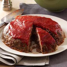 Meat Loaf with Chili Sauce Recipe -I used to serve this meat loaf in my cafe. Everyone asked for it. I adapted the recipe so I could make it in my slow cooker at home, where it's quite popular, too. —Robert Cox, Las Cruces, New Mexico