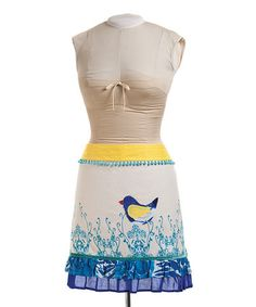 Take a look at this Blue Bird Collection Half Apron - Women by DEMDACO on #zulily today!