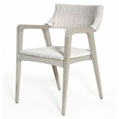 The Urbane Dining Arm Chair is part of the a uniquely styled, trend forward collection of quality furniture great for any coastal home, beach cottage, lake house, office, contemporary or traditional residence.    Mahogany frame with Woven Seat and Back.   Color: Old Grey