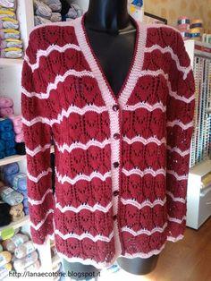 Lana e Cotone (maglia e uncinetto): Giacca di cotone a ferri