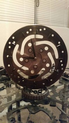 Upcycled Harley caliper clock by AK47Dezines on Etsy