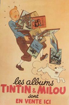Vintage poster. TinTin & Milou Original