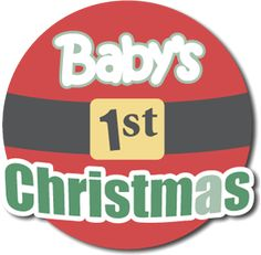 Baby's First Christmas Caption SVG