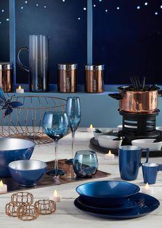 Table de Noël bleu - Nuit Mystérieuse - Carrefour Deco