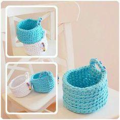 Basket, crocheting, home, hoooked