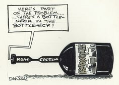 Editorial cartoon style - The Charlie Daniel Editorial Cartoon Collection   Theres a bottleneck in the bottleneck