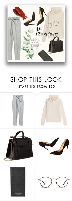 """""""#PolyPresents: New Year's Resolutions"""" by pinkdream235 ❤ liked on Polyvore featuring Sonia Rykiel, Strathberry, Christian Louboutin, Aspinal of London, GlassesUSA, Balmain, contestentry and polyPresents"""