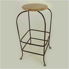 "24"" Backless Wood Swivel Barstool Fabric: Wood, Metal Finish: Gun Metal by Grace Collection. $126.99. SW124-X+ (GM) Fabric: Wood, Metal Finish: Gun Metal Features: -Ships fully assembled.-Artistically crafted in wrought iron. Options: -Available in 12 designer metal finishes. Color/Finish: -Painted according to your choice of metal finish. Dimensions: -Dimensions: 16'' W x 16'' D x 24'' H."
