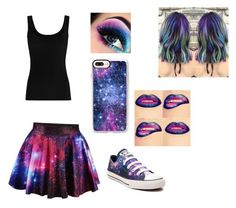 """""""Galaxy"""" by nightwolfxx ❤ liked on Polyvore featuring Twenty, Converse, Casetify and Magdalena"""