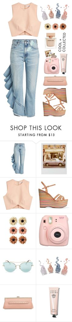"""Sleeveless Top & Jeans!"" by prettynposh2 ❤ liked on Polyvore featuring Citizens of Humanity, Polaroid, Finders Keepers, Schutz, mae, Fujifilm, Miu Miu, RED Valentino, Bobbi Brown Cosmetics and Narciso Rodriguez"