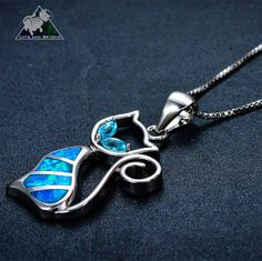 Beautiful Cat Opal Necklace & Pendants is fashionable for any cat lover in your life.